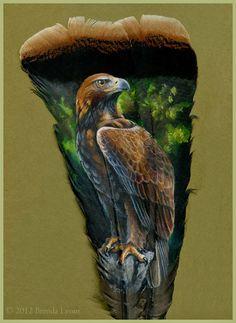 Unas cuantas plumas pintadas con animales Estas pinturas son obra de la artista e ilustradora norteamericana Brenda Lyons.