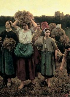 'Recalling the Gleaners from the Field' (detail), 1859  - Jules Breton (1827-1906)