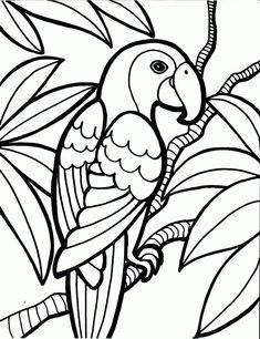 desenhos de araras para imprimir e colorir 1 animais