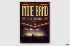"""Check out my @Behance project: """"Indie Band Flyer Template V4"""" https://www.behance.net/gallery/53571793/Indie-Band-Flyer-Template-V4"""