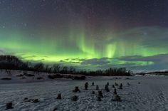 Auroras boreales desde Abisko, Suecia. 6 de marzo de 2014 Crédito: Andreas Brodeck