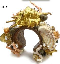 EMILY MIRANDA-USA , encrusted gold cuff