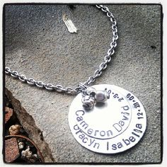 PERSONALIZED Hand Stamped Layered Silver by SoBeautifullyBroken, $25.00