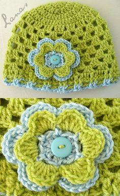 "Lanas Hilos: SCARF + HAT ""Granny Style""... Free pattern"