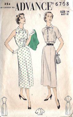 1950s Misses Dress and Bolero