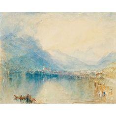 Turner: Arth, on the Lake of Zug, Early Morning, Sample Study (custom print)