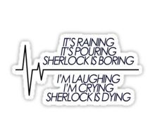Sherlock is Dying Sticker