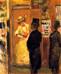 After the Theater, 1902, by Pierre Bonnard (French, 1867-1947)