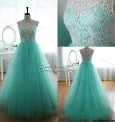 2014 Green Wedding party Bridesmaid dress Prom Graduation Ball Evening long Gown #Handmade #BallGown #Formal