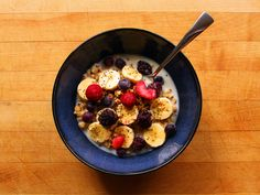 Granola Bowl - delicious! I used fresh berries instead of frozen because I had them and it was just so easy and light. I could eat this over and over! Because I didn't have hemp granola I added help seed to the top.