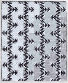 Piked Peaks is a controlled scrappy quilt, made with half-square triangle units. I fell in love with the layout and had to make it! Piked Peaks : Piked Peaks measures 48″ x 60″ with fabric and block requirements for a smaller baby size