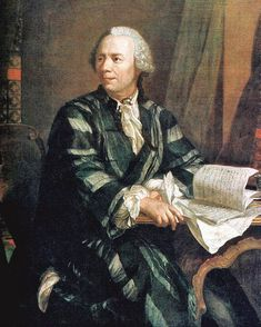 Painting of Leonhard Euler (1707 - 1783) by artist Johann Georg Brucker. Euler is widely regarded as the greatest mathematician of all time.