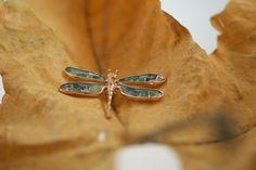 Gentileschi #LeBronzerie Libellula in bronzo con mosaico di diamanti flat