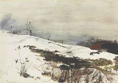 Artwork by Andrew Wyeth, Over the Hill,   1953    WC