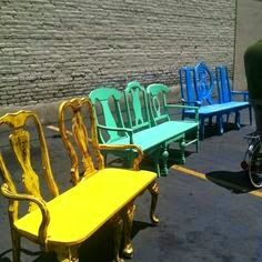 The Art Of Up-Cycling: Upcycled Chairs - Cool Ideas For Random Chair Make Overs...