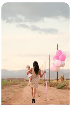 Maybe I can do something like this - Gem and I both walking with balloons since both our birthdays are in March?