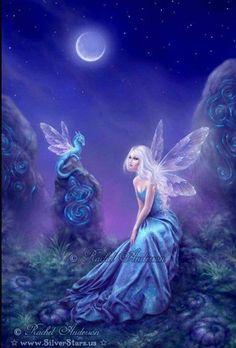 Luminescent ~ Fairy & Dragon artwork by Rachel Anderson silverstars. Fantasy Kunst, Fantasy Art, Fantasy Fairies, Elves And Fairies, Elfen Fantasy, Fairy Pictures, Dragon Artwork, Love Fairy, Beautiful Fairies