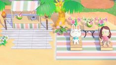 Beach day ������ . . . #beach #acnh #animalcrossing #animalcrossingnewleaf #animalcrossingwildworld #animalcrossingpocketcamp… #ChambreJeuxVideo #FamilyGamesOnline Animal Crossing Wild World, Animal Crossing Guide, Animal Crossing Qr Codes Clothes, Animal Crossing Pocket Camp, Beach Kids, Beach Day, Star Citizen, Leaf Animals, Motifs Animal