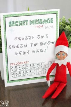 Message from Santa - have your Elf on the Shelf bring this fun activity back from the North Pole!Secret North Pole Message from Santa - have your Elf on the Shelf bring this fun activity back from the North Pole! Christmas Elf, Christmas Humor, Christmas Messages, Christmas Carol, Elf For Christmas, Christmas Quotes, Amazon Christmas, Modern Christmas, Christmas Wrapping