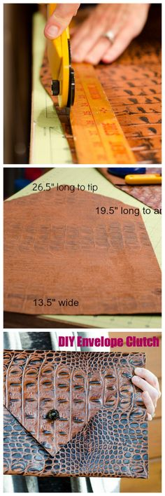 DIY leather envelope clutch #DIY #leather #DIYhandbags
