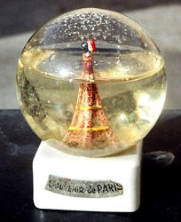 The oldest snow globe. Issued in 1889   at the Exposition de Paris...... Amazing