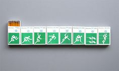 1972 Munich Olympics |  Otl Aicher #matchboxes #pictograms
