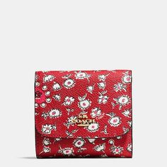 COACH Small wallet in wild hearts print