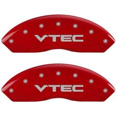 Set of 4 MGP Caliper Covers 39005Svtcrd, Engraved Front and Rear: Vtech, Red Powder Coat Finish, Silver Characters
