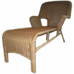 Cape Cod Nutmeg Resin Wicker Patio Chaise Lounge-DISCONTINUED-011003 at The Home Depot