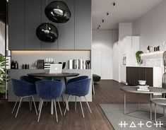 New bright interior design of flat in Ukraine for couple, with big comfortable kitchen and stylish living room. Apartment Interior Design, Modern Interior Design, Interior Architecture, Interior Ideas, Black Kitchens, Kitchen Black, Luxury Home Decor, Living Room Designs, Lightroom
