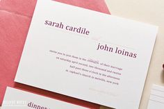 Colorful Wedding Invitations with Pink and by SincerelyJackie, $7.00