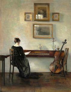 Carl Vilhelm Holsoe - Pintura : Revista El Bosco