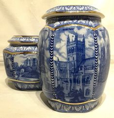 #Wade~#Maling Replica~#Ringtons~#Millennium~#Cathedrals & #Castles Jars~Large~Mint! #Tea #Teatime #Teaparty #Style #PotteryBarn #Family #Friends #Stylish #Gifts #USA #UK #Collectibles xxx