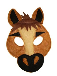 Children's HORSE Farm Animal Felt Mask by magicalattic on Etsy