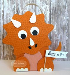 Taylored Dies are our exclusive, American made thin steel dies. Our dies work in nearly every die cutting machine including the Cuttlebug, Big Shot, Vagabond, and Grand Calibur. Kids Birthday Cards, Dinosaur Birthday Party, Diy Birthday, Baby Diy Projects, Diy Crafts For Kids, Craft Projects, Dinosaur Cards, Valentine Box, Kids Cards