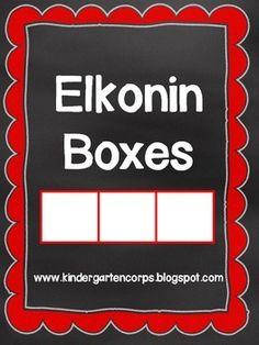 Elkonin Boxes: Segmenting Pages  - FREE - Great for phonemic awareness and phoneme segmentation fluency on DIBELS.