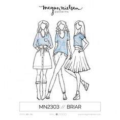 Megan Nielsen Briar Tee Sewing Pattern | Guthrie & Ghani All body shapes / Apple / Athletic / Hourglass / Pear / Strawberry