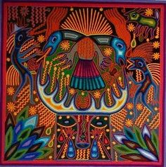 Good Art week 1 pic 1 Huichol yarn painting artesanias by Jose Benito. I think this picture is good art because of the time and patients it took to form and shape all of the yarn to make this picture. It raises a lot of questions like, why use yarn?