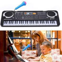 61 Keys Digital Music Electronic Keyboard Key Board Gift Electric Piano Gift with Microphone Music Instrument toys for children (scheduled via http://www.tailwindapp.com?utm_source=pinterest&utm_medium=twpin)