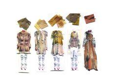 Fashion Sketchbook - layout ideas; fashion design collection lineup; fashion portfolio // Joanne Jones, London College of Fashion