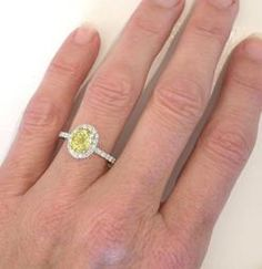 Yellow Sapphire Ring with Diamonds