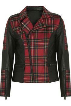 Beyonc Tartan motor jacket