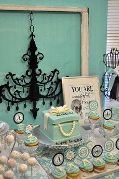 Tiffany & Co., Breakfast at Tiffany's Birthday Birthday Party Ideas | Photo 2 of 24 | Catch My Party