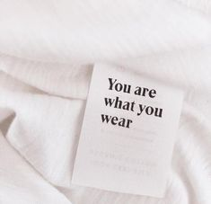 Think about it. Citations Shopping, Slow Fashion, Ethical Fashion, Label Design, Branding Design, Mode Poster, Clothing Packaging, Shopping Quotes, Clothing Labels