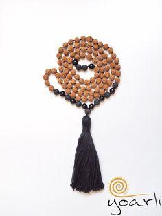 Onyx - Onyx Lava Rudraksha Mala 108  - ein Designerstück von Yoarli bei DaWanda