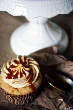 Salted Caramel Cupcakes. Brown sugar cupcake base with caramel filling and and caramel buttercream