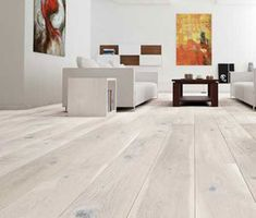 The Barlinek Sense Oak Gentle is a unique, cream matt lacquered floor, with a unique grain in each board. The engineered wood boards are extra wide, making them perfect for the main room of the house, as they look fantastic in spacious settings. Rustic Wood Floors, Diy Wood Floors, White Wood Floors, Real Wood Floors, Wood Laminate Flooring, Hardwood Floors, White Flooring, Wide Plank Flooring, Townhouse