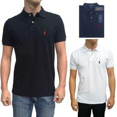 Ralph Lauren Polo Shirt Hemd T-Shirt - Schwarz - Weiß - Navyblau Neu S edf8c3d5cf