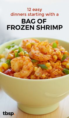 From kung pao shrimp to spicy Asian lettuce cups, here are 12 easy dinners that don't shrimp on the flavor. Frozen Shrimp Recipes, Cooked Shrimp Recipes, Pork Rib Recipes, Shrimp Recipes For Dinner, Seafood Recipes, Recipe For Precooked Shrimp, Recipe For Frozen Cooked Shrimp, Fish Recipes, Appetizer Recipes