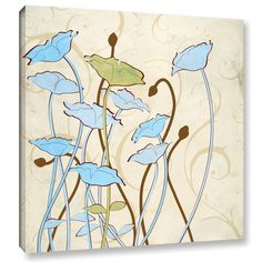 ArtWall Pied Piper's Floral Silhouettes Gallery Wrapped